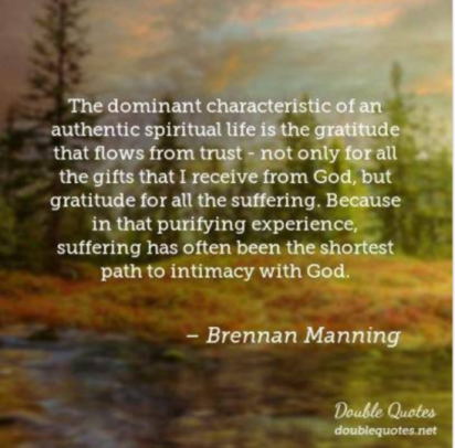 Brennan Manning on Suffering