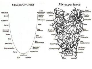 Stages of grief charts